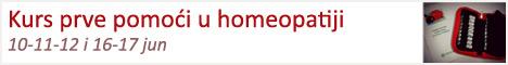 Kurs prve pomoći u homeopatiji