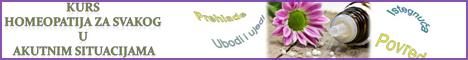 Kurs homeopatija za svakog u akutnim situacijama