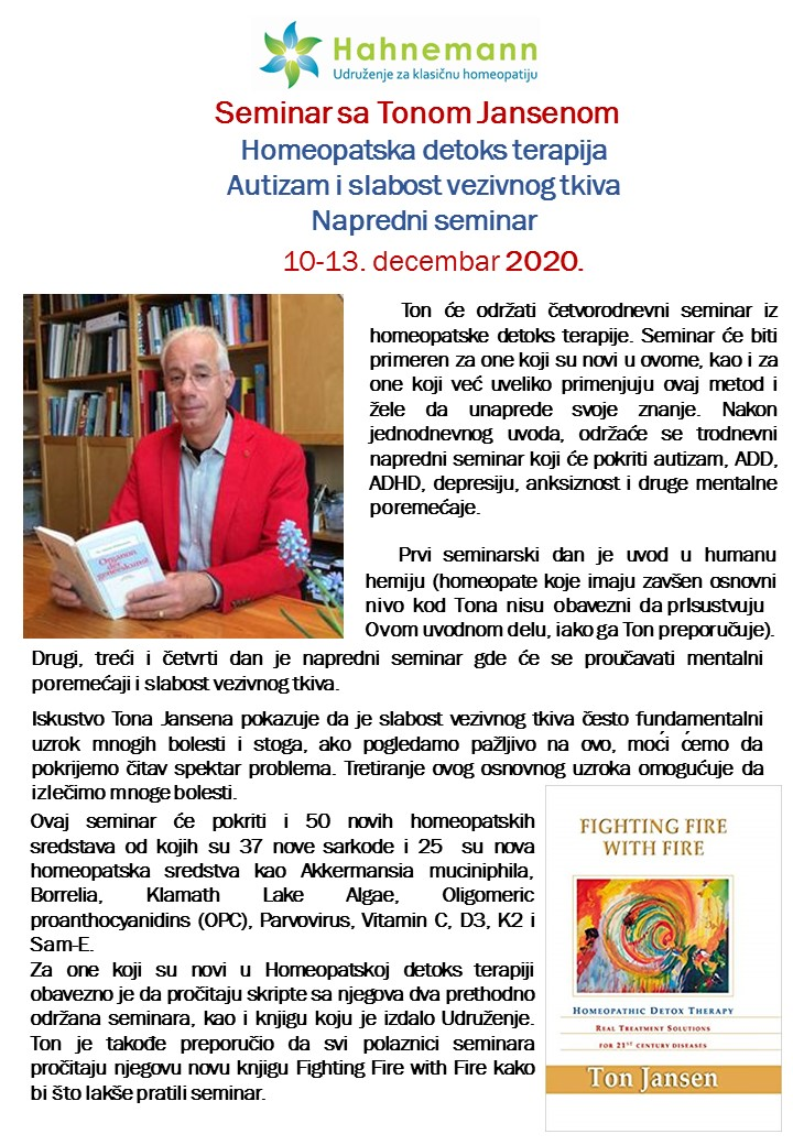 "Ton Jansen ""Homeopatska detoks terapija"" @ Hotel ""Dunav"", Sremski Karlovci"